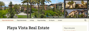 Playa Vista Real Estate, Wordpress Website, SEO, content, photography